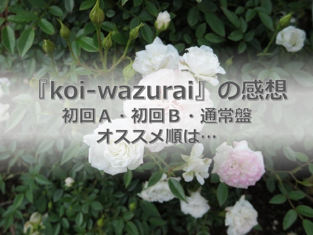 キンプリのkoi-wazurai収録内容の感想
