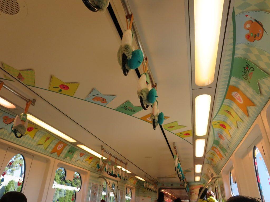ジェラトーニ車両の天井