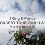 キンプリランド『King & Prince CONCERT TOUR 2020 ~L&~』DVDライブ本編の感想
